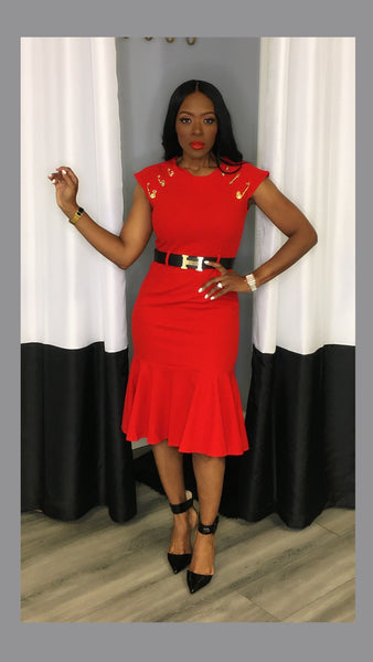 Princess Pin Red Dress:FINAL SALE