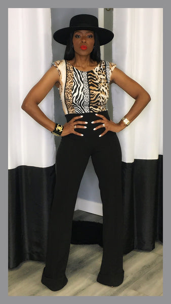 Wendall High Waist Bell Bottom Black Pants:FINAL SALE