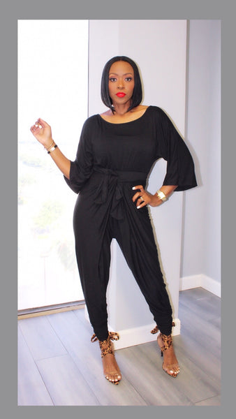 Heaven Harem Black Jumpsuit