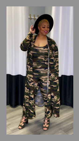 Jaylon Camouflage Jumpsuit:FINAL SALE