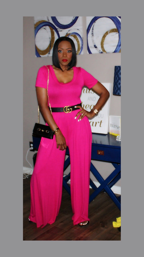 Jackie Fuchsia Jumpsuit:FINAL SALE