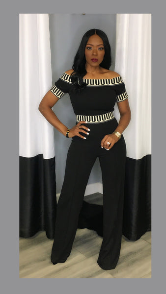 Jemison Black and White Jumpsuit