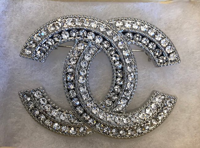 Dexter Diamond Double CC Brooch