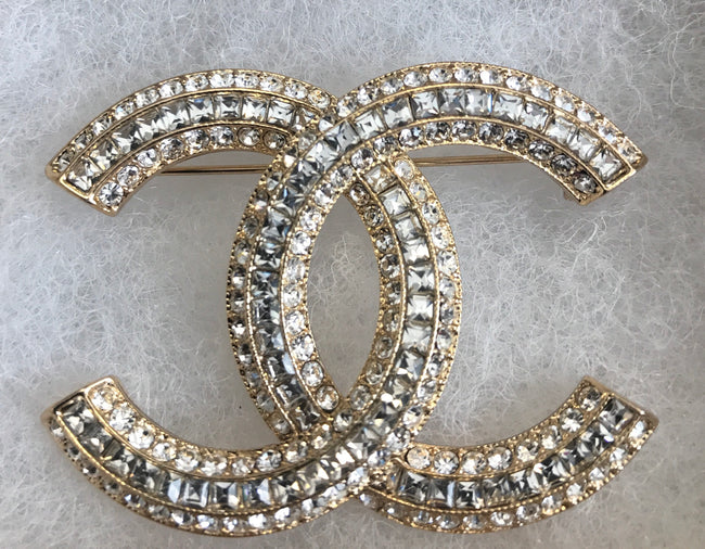 Kate Triple Layer Double CC Brooch