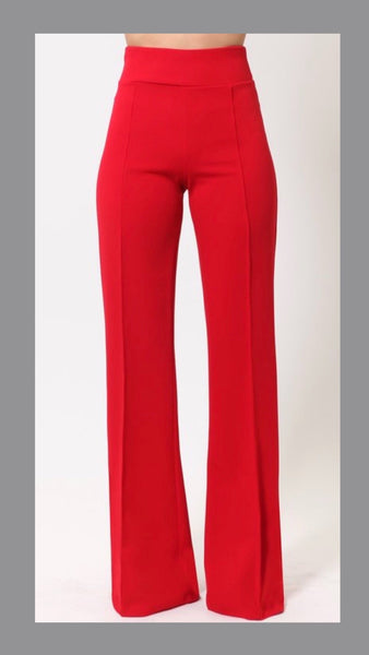 Wendy Wide Leg Red Pants