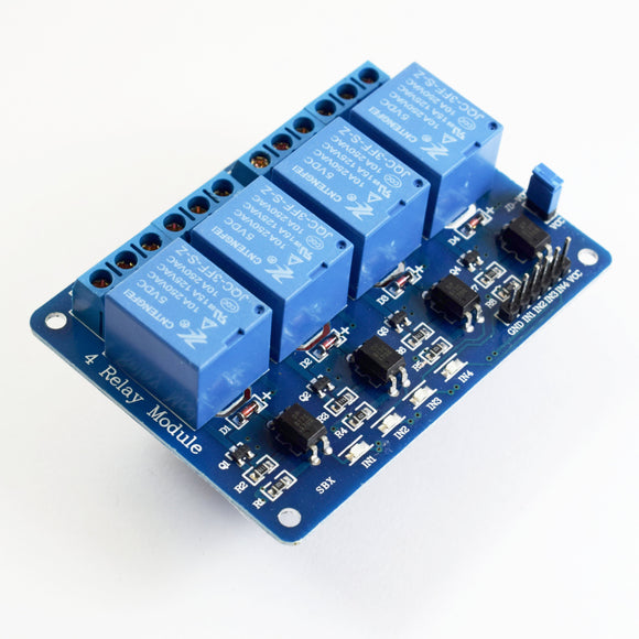 4 Channel 5V Relay Module with Octocoupler - Bageera - The Resource Hub