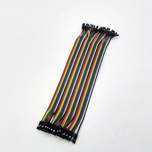 "F2F (Female to Female) Jumper Cables 6"" - 40 pins - Bageera - The Resource Hub"