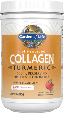 Garden of Life Multi-Sourced Collagen Turmeric - Apple Cinnamon (220g)