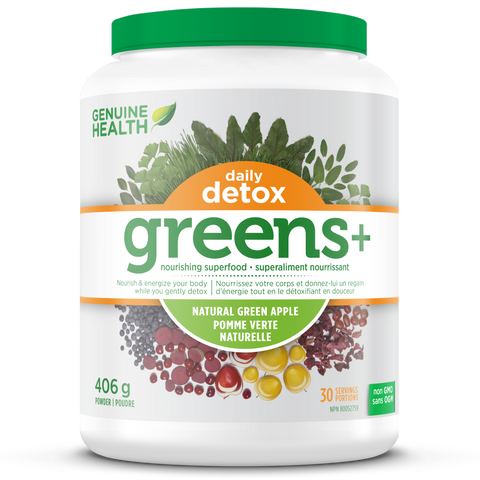 Genuine Health Greens+ Daily Detox Green Apple 406g