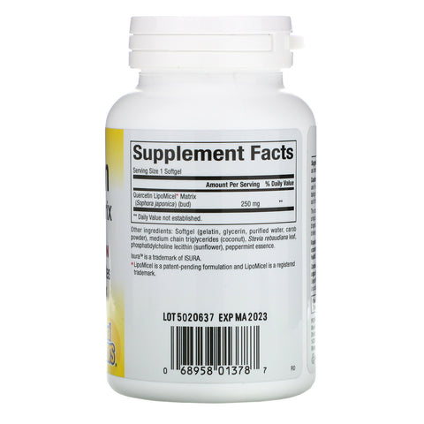 Natural Factors Quercetin LipoMicel Matrix (60 Softgels)