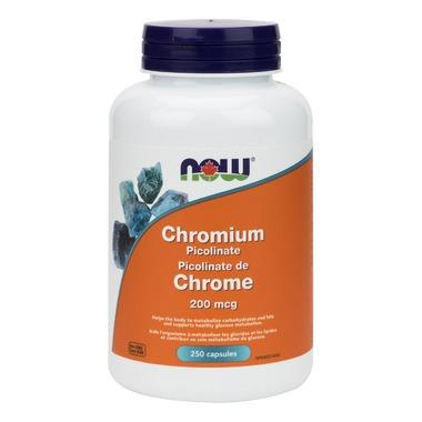 NOW Foods Chromium Picolinate 200 mcg (250 VegCaps)