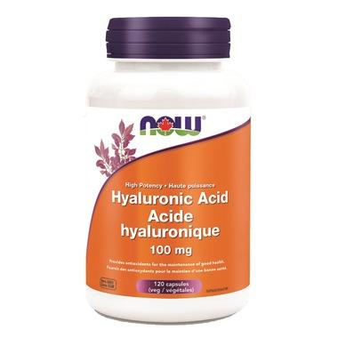 NOW Foods Hyaluronic Acid - High Potency - 100mg (60 VegCaps)