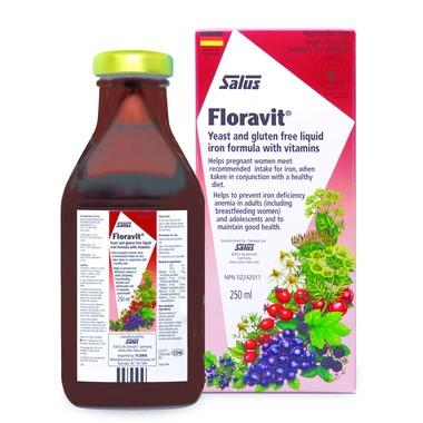 Salus Floravit Yeast and Gluten Free Liquid Iron Formula (250ml)