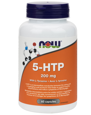 NOW Foods 5-HTP 200mg with Tyrosine (60 Caps)