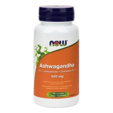 NOW Foods Ashwagandha - 400mg (90 VegCaps)