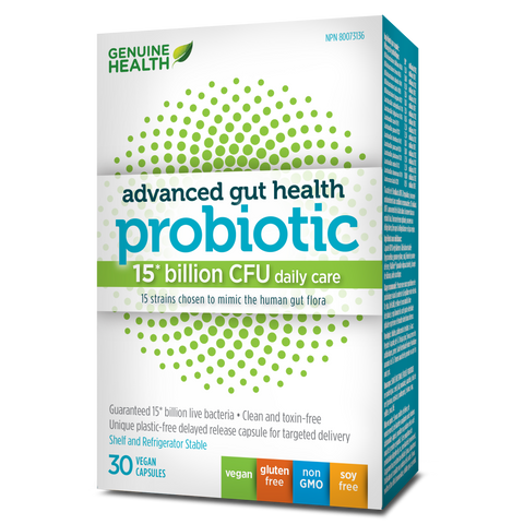 Genuine Health Adv Gut Health Probiotic 15 billion CFU