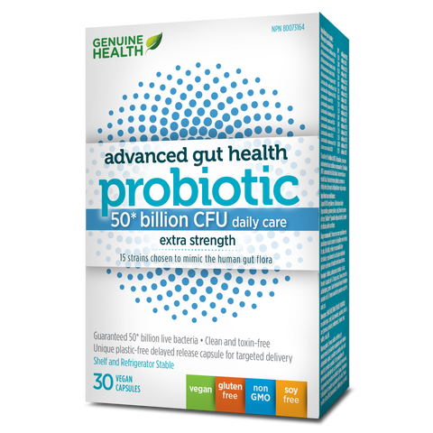 Genuine Health Adv Gut Health Probiotic 50 billion CFU