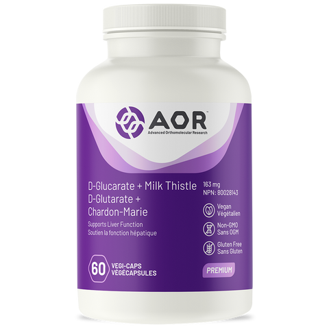 AOR D-Glucarate + Milk Thistle (60 Veg Caps)