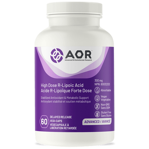 AOR High Dose R-Lipoic Acid (60 Veg Caps)