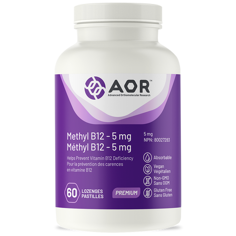 AOR Methyl B12 – 5 mg - Methylcobalamin (60 Lozenges)