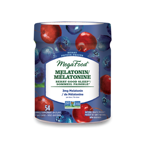 MegaFood Melatonin Berry Good Sleep Gummies - Berry (54 Gummies)