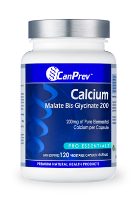 CanPrev Calcium Malate Bis-Glycinate 200 (120 VegCaps)