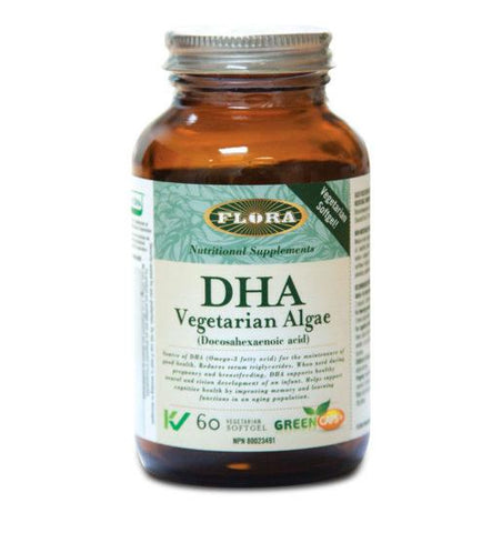 Flora DHA Vegetarian Algae (60 Veg Softgels)