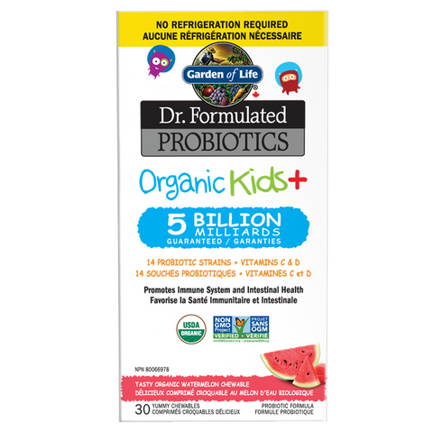 Garden of Life Dr. Formulated Probiotics Organic Kids+ Chewables (30 Chewable Tabs)