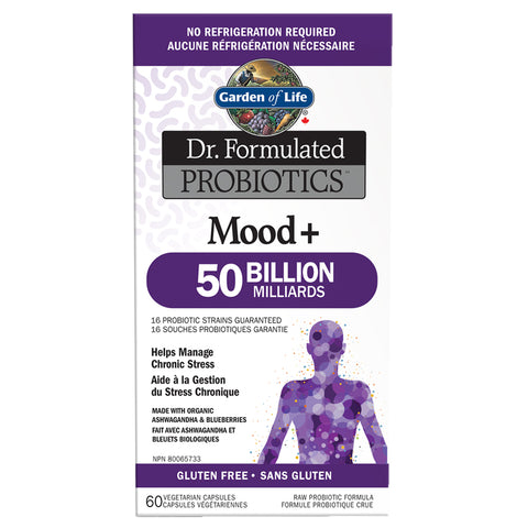Garden of Life Dr. Formulated Probiotics Mood+ (60 Vcaps)