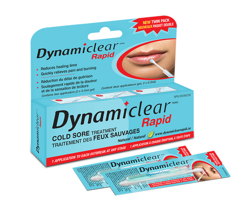 Dynamiclear Rapid Cold Sore Treatment 2 x 0.5 ml gel