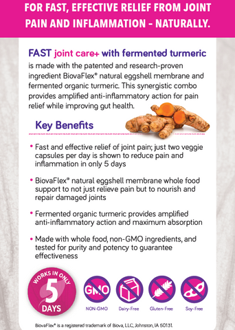 Genuine Health fast joint care+ with Fermented Turmeric (60 VegCaps)
