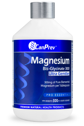 CanPrev Magnesium Bis-Glycinate 300 Ultra Gentle (500ml Liquid)