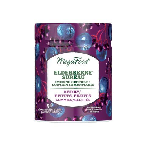 MegaFood Elderberry Immune Support Gummies - Berry (54 Gummies)