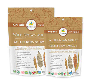 Ecoideas Organic Brown Millet - Wildform 454g