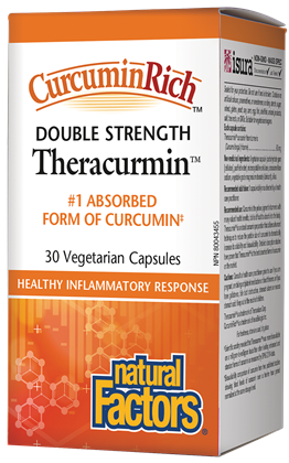 Natural Factors CurcuminRich Theracurmin Double Strength 60mg