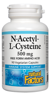 Natural Factors N-Acetyl-L-Cysteine 500 mg (90 VegCaps)