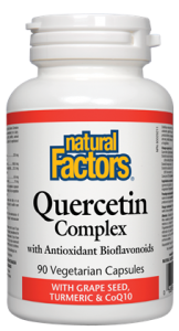 Natural Factors Quercetin Complex with Grape Seed, Turmeric & CoQ10 (90 VegCaps)