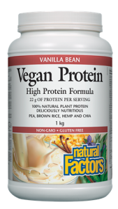 Natural Factors Vegan Protein High Protein Formula 1kg Powder