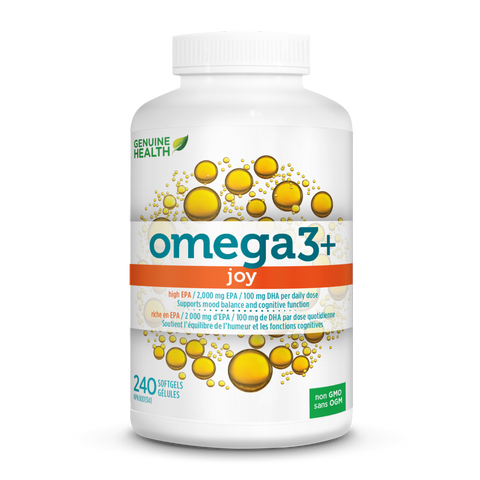 Genuine Health Omega3+ Joy (240 Softgels)