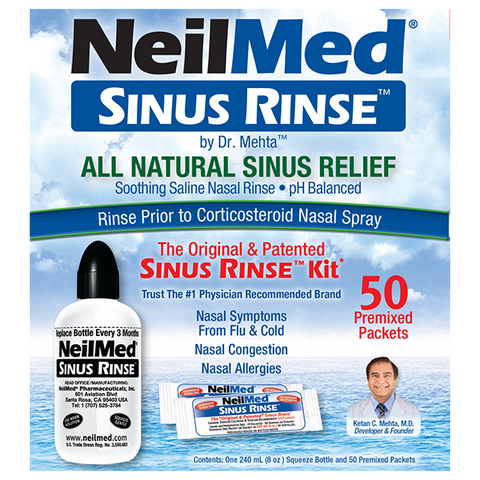 NeilMed SINUS RINSE™ Regular Kit w/ 50 premixed packets