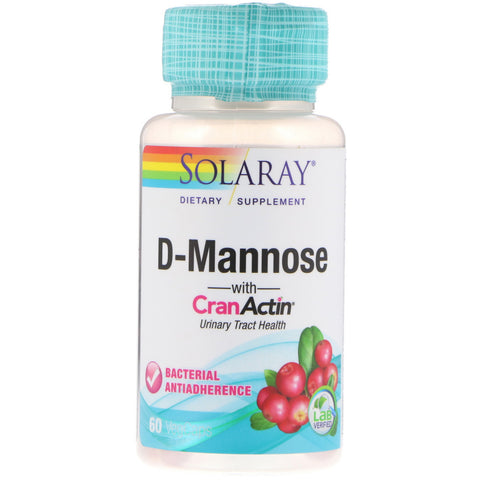 Solaray D-Mannose with CranActin Urinary Tract Health (60 VegCaps)