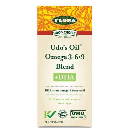 Flora Udo's Oil Omega 3+6+9 Blend +DHA (500ml)