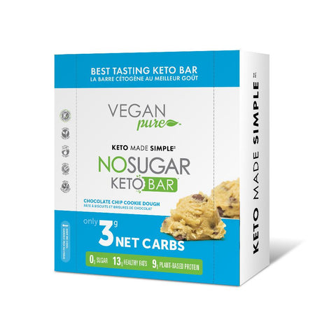 Vegan Pure No Sugar Keto Bar - 12 Bars/Box