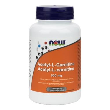 NOW Foods Acetyl-L-Carnitine - 500mg (100 VegCaps)