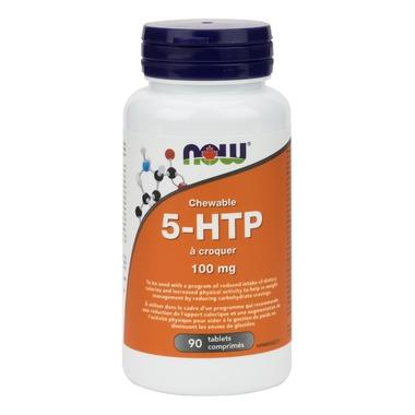 NOW Foods 5-HTP - 100mg (90 Chewable Tablets)