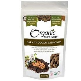Organic Traditions Dark Chocolate Almonds 227g