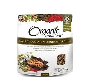 Organic Traditions Dark Chocolate Almonds with Chili 227g