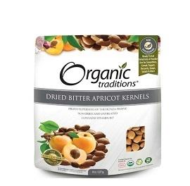 Organic Traditions Dried Bitter Apricot Kernels B17 227g