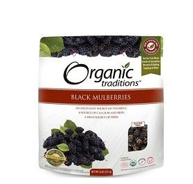 Organic Traditions Black Mulberries 227g