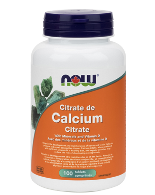 NOW Foods Calcium Citrate with Minerals & Vitamin D (100 Tablets)